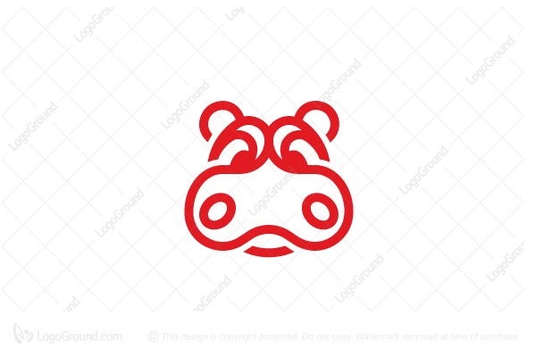 Exclusive Logo 87737, Angry Hippo Logo.