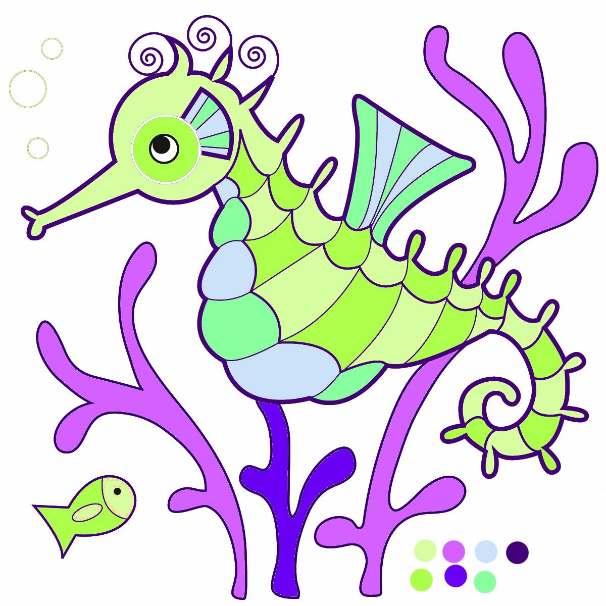 Hippocampus Clipart.