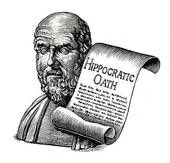 Stock Photography of Hippocratic oath, medicine, healthcare.