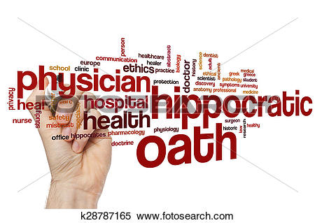 Stock Image of Hippocratic oath word cloud k28787165.