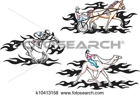 Clip Art of Hippodrome racing k10413158.