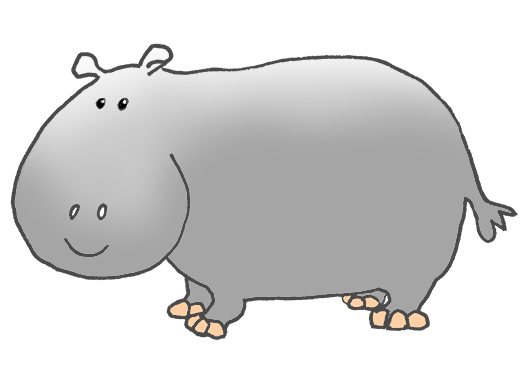 Cartoon Hippo Clipart.