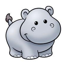 Baby Hippo Clipart.