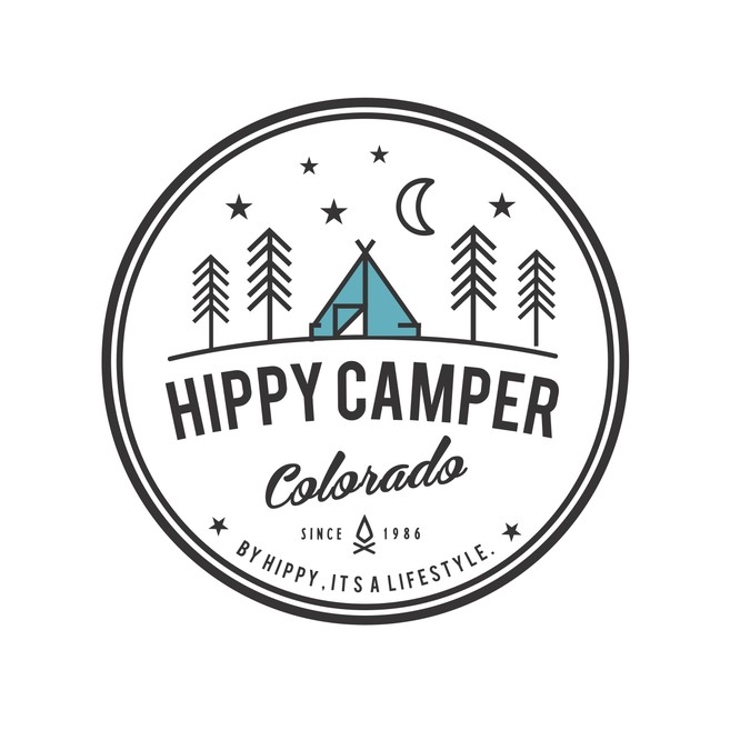 Create a vintage camper design for be hippy lifestyle brand.