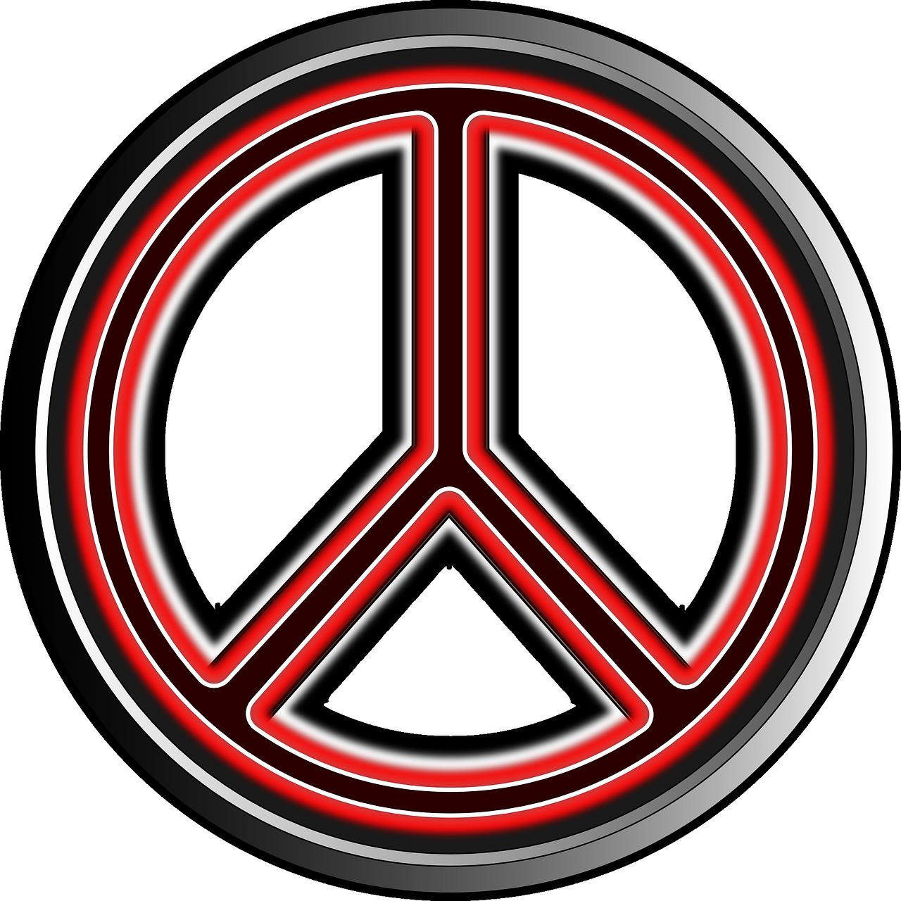Peace Symbol Hippy Logo PNG.