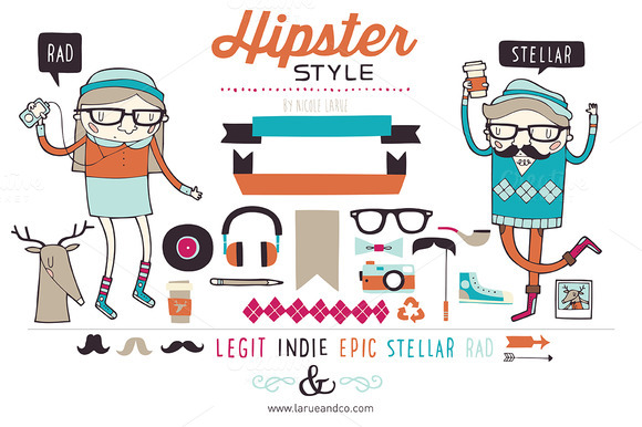 Hipster Clipart.