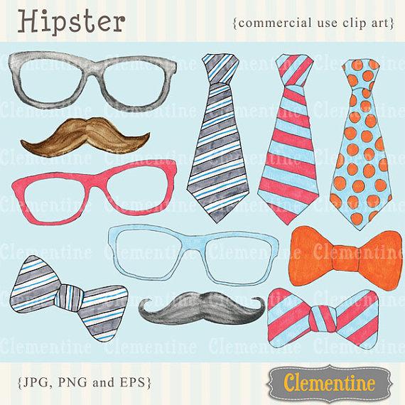 Hipster Clip Art.