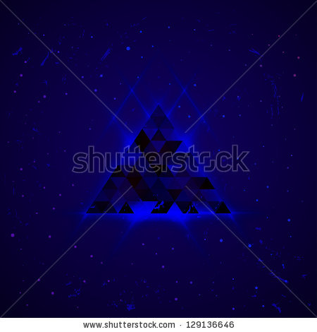Hipster Space Triangle Mystic Galaxy Astral Stock Vector 129136538.