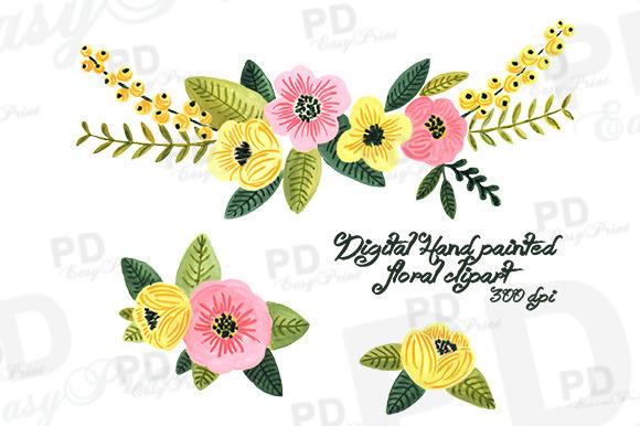 Hipster Flower Clipart.