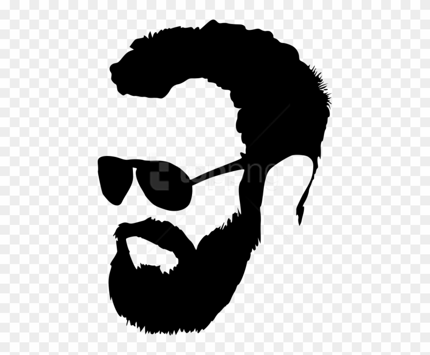 Free Png Hipster With Sunglasses Silhouette Png.