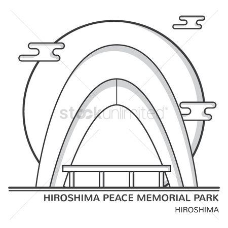 Free Hiroshima Peace Memorial Park Stock Vectors.