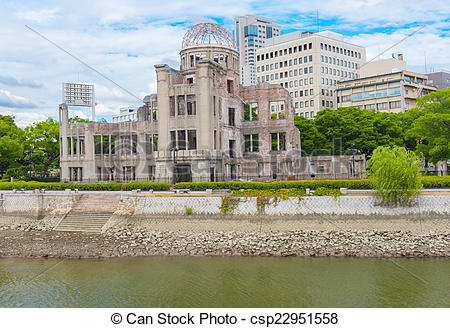 Stock Images of Hiroshima nuclear dome.