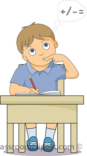 Student Working At Desk Clipart#1980127.