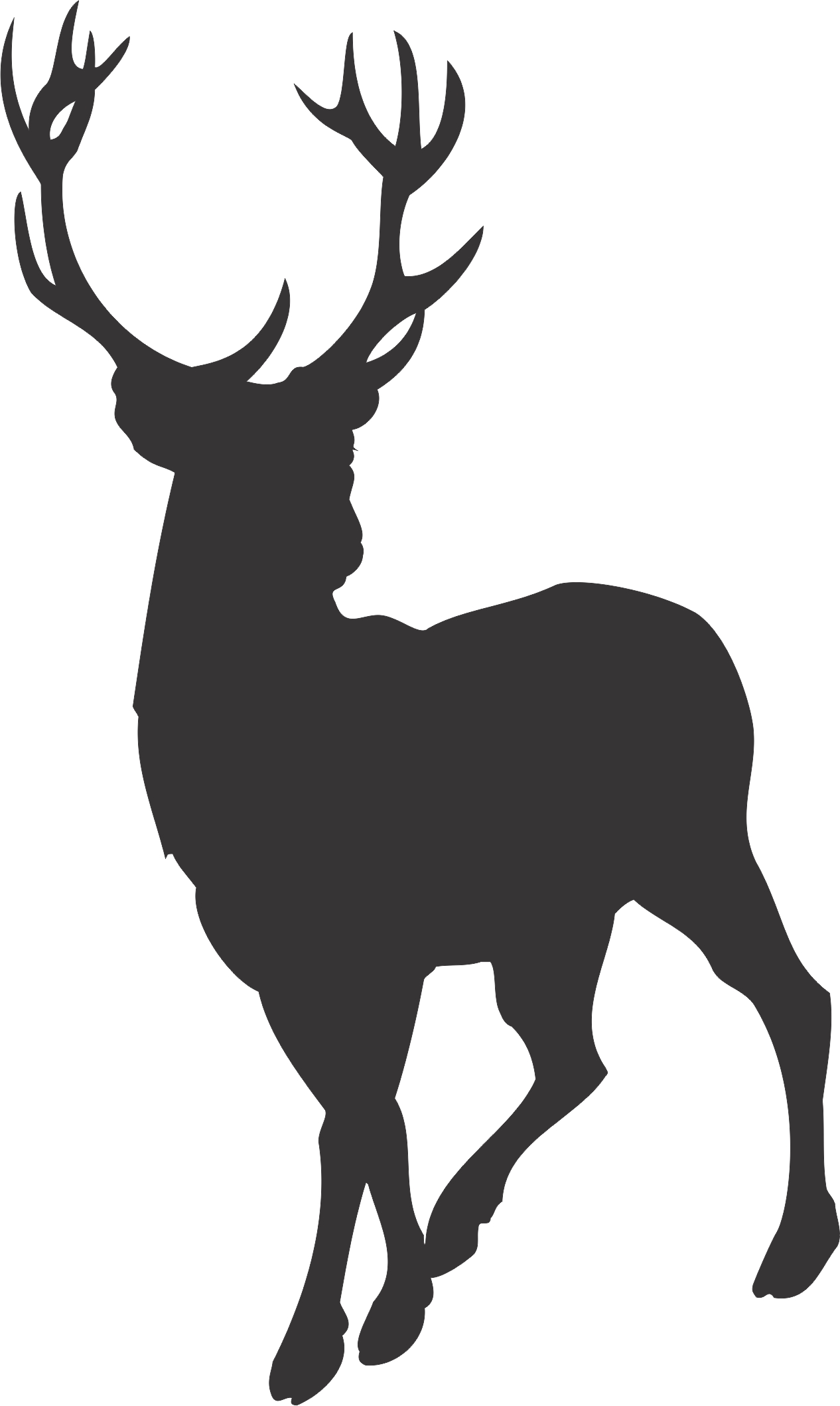 Deer Family Head Black And White Clipart Clipground