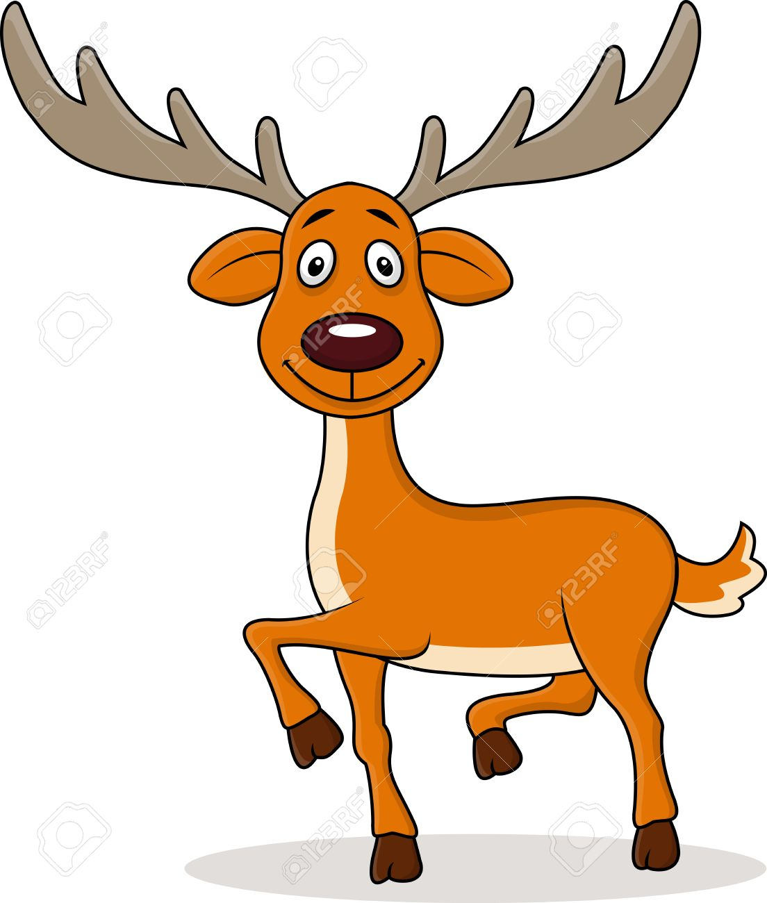Deer Cartoon Royalty Free Cliparts, Vectors, And Stock.