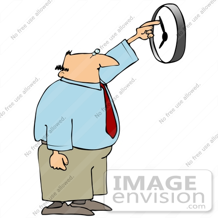 Clip Art Graphic of a Bald Middle Aged Caucasian Businessman.