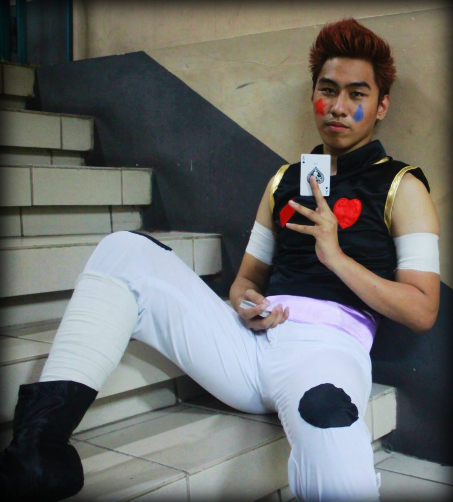 Arnold as Hisoka by johnrenelle on DeviantArt.