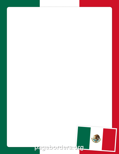 Mexican Flag Border: Clip Art, Page Border, and Vector.