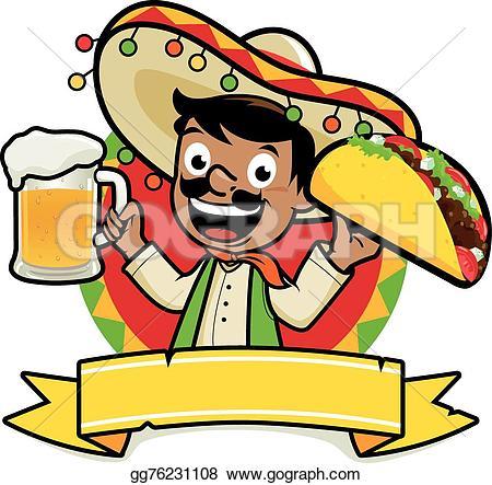 Mexican Man Clip Art.
