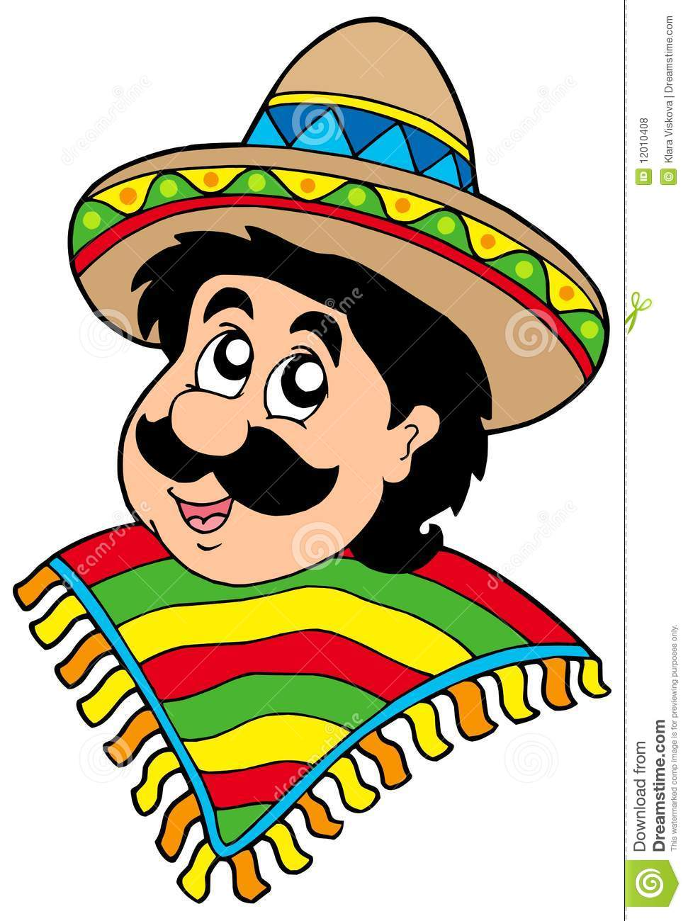 Portrait Of Mexican Man Royalty Free Stock Photos.