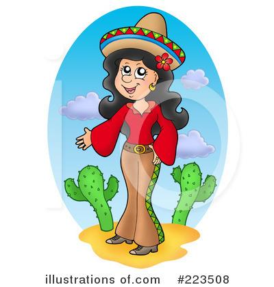 Hispanic Woman Clipart.