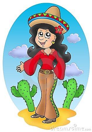 Hispanic Girl Clipart.