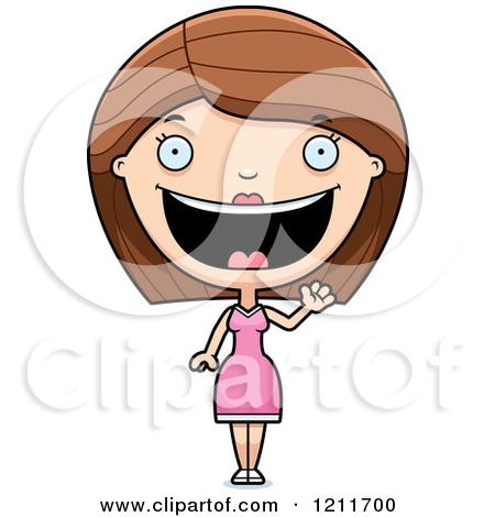Hispanic Woman Clipart Waving Hi.