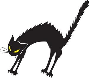 Hissing Cat Clipart.