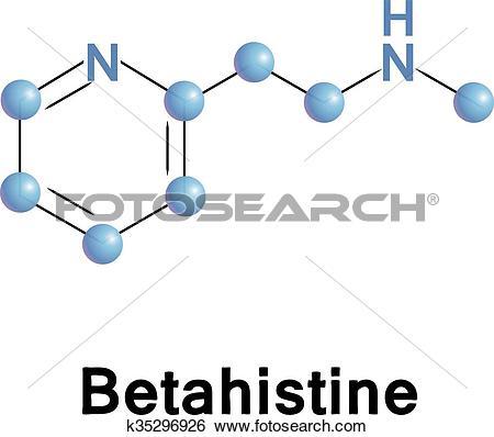 Clip Art of Betahistine histamine receptors. k35296926.