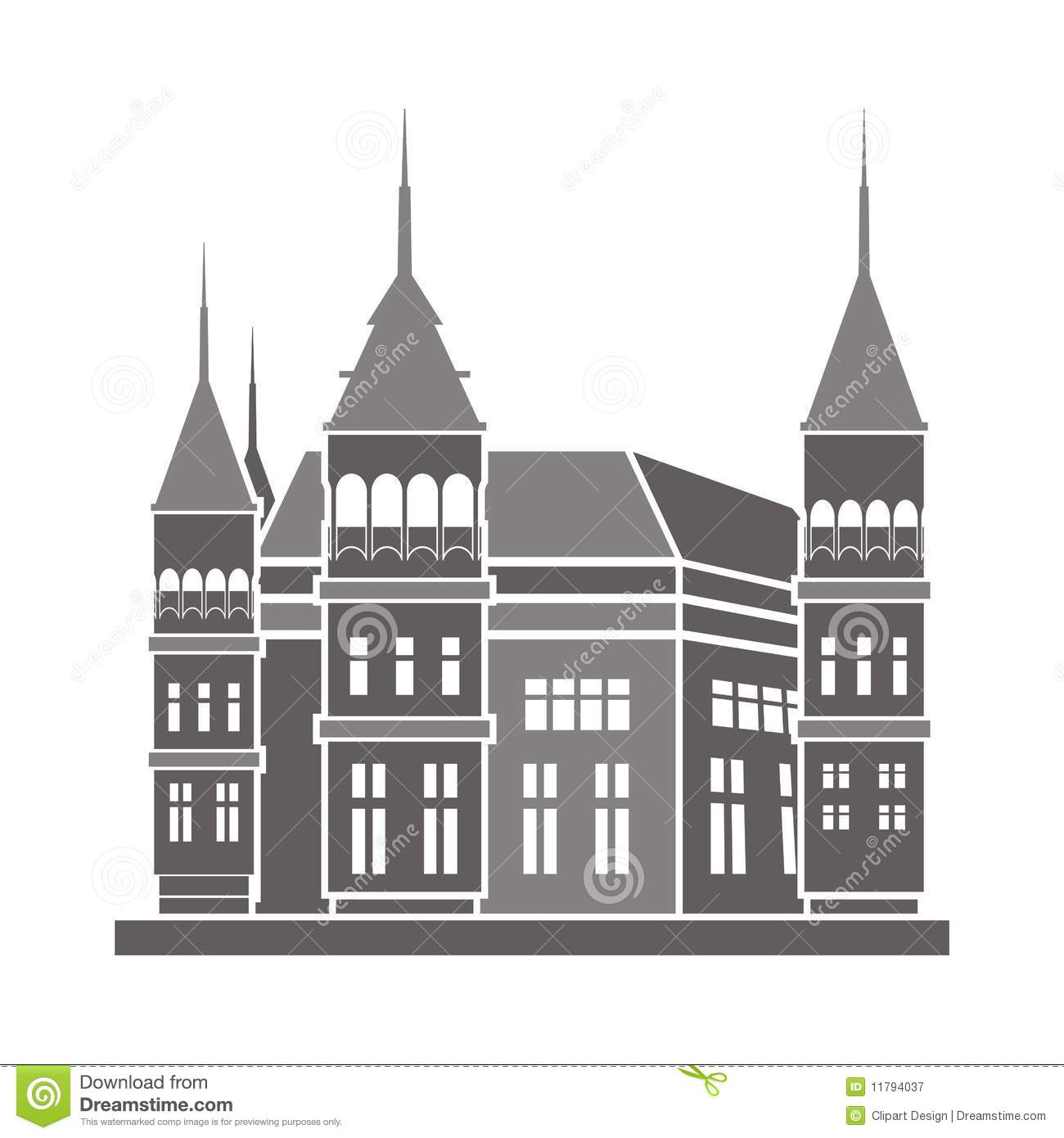 Historic Building Illustration Royalty Free Stock Photography.