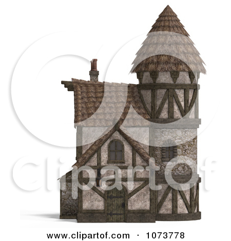Clipart 3d Historic Stone Pharmacy Building 1.
