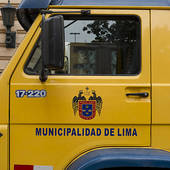 Picture of Municipality truck, Historic Centre of Lima, Lima, Peru.