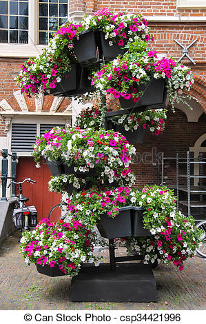 Stock Photographs of Decorative floral composition in the historic.