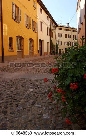 Stock Photography of Historic centre of Castelvetro di Modena.