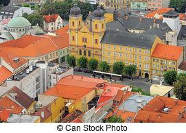 Stock Photo of Historic centre of Trencin city, Slovakia.