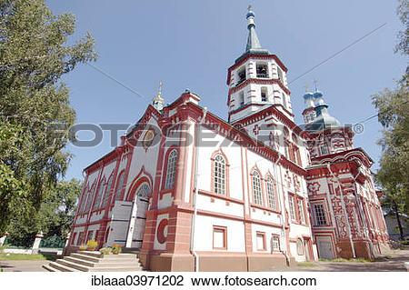 "Stock Photo of ""The Orthodox Church, historic city center, Irkutsk."