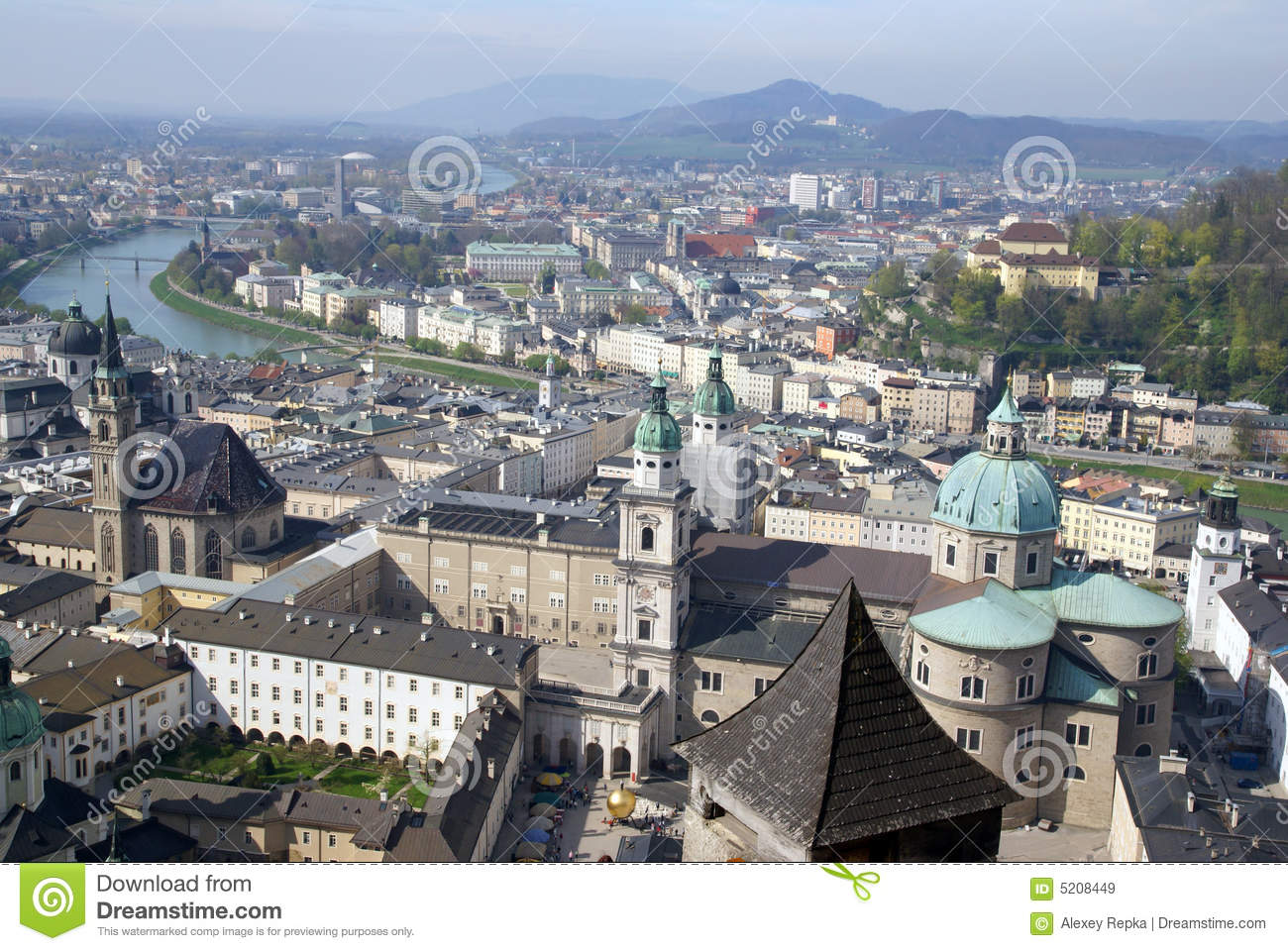 View Of Historical Center Of Salzburg, Austria Royalty Free Stock.