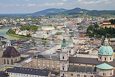 Aerial View Of Salzburg (Austria) Editorial Image.