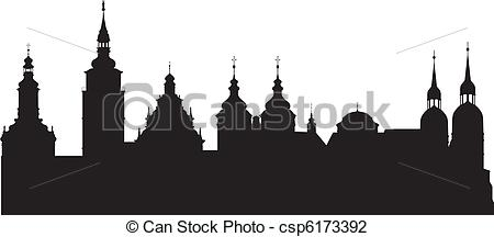Vector Illustration of Historical city.