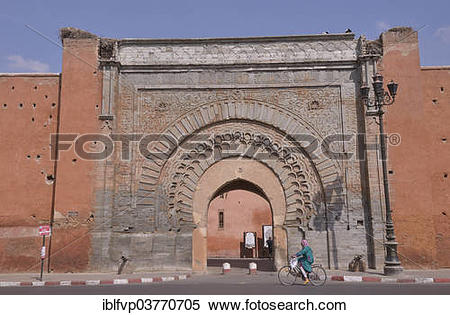 "Stock Image of ""Bab Agnaou gate, Medina, historic centre."