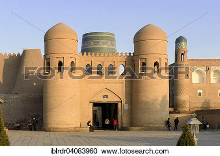 Stock Photography of Ota gate to the historic centre Ichan Qala.