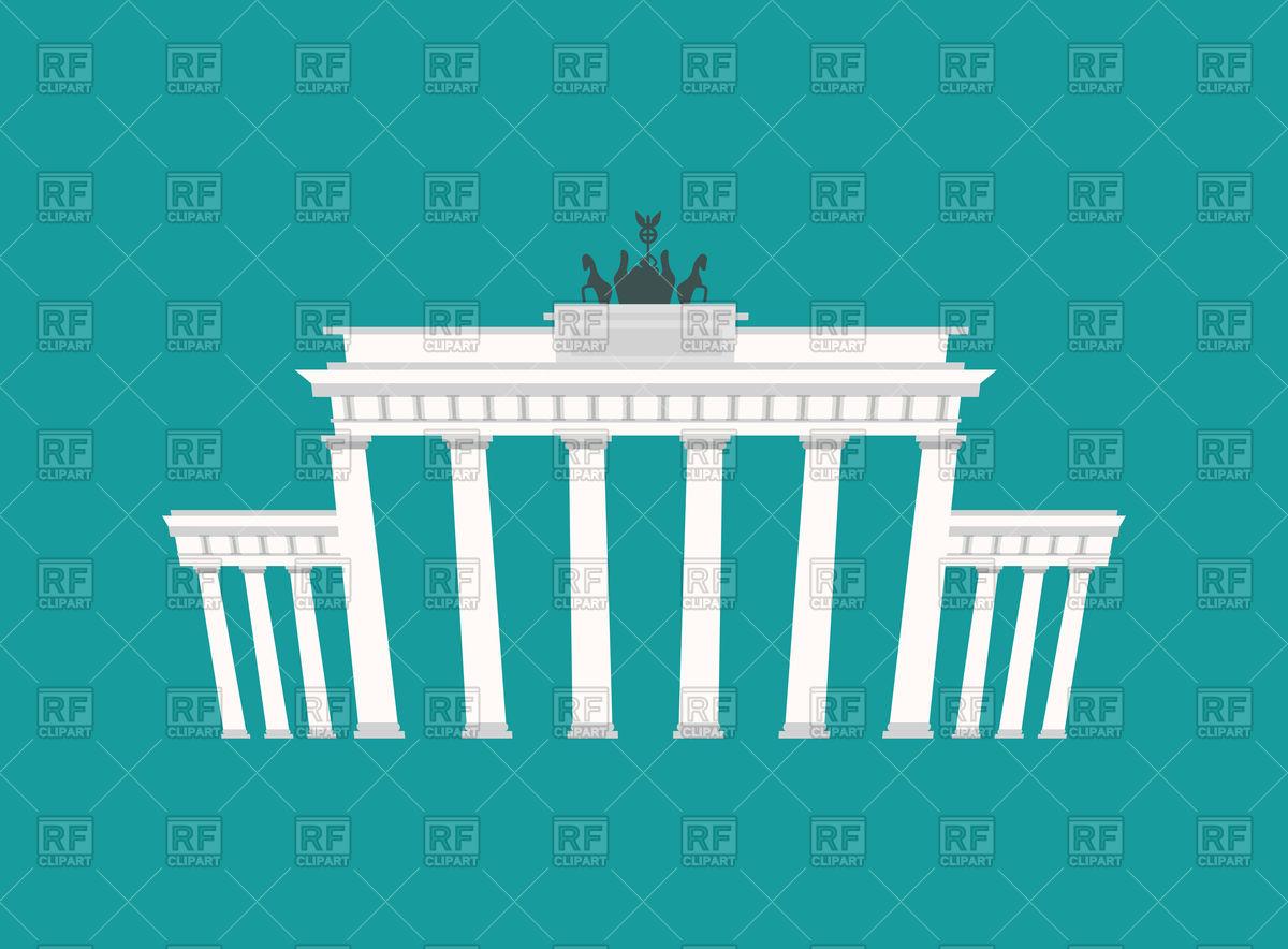 Brandenburg Gate, historic architecture building in Berlin Vector.