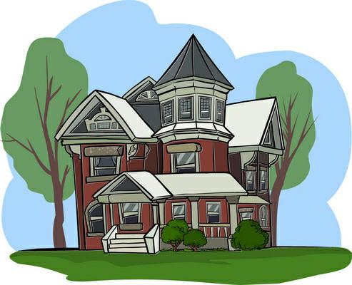 Rich house clipart.