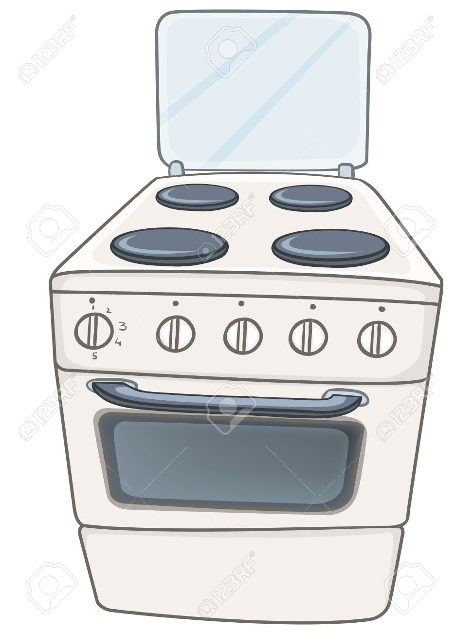 Cartoon Home Kitchen Stove Royalty Free Cliparts, Vectors, And.