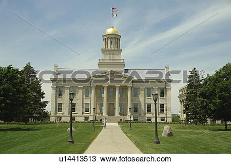 Stock Photo of Iowa City, IA, Old Capitol Building, National.