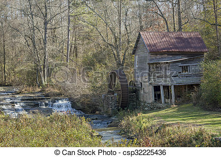 Stock Photos of Historic Old Grist Mill.