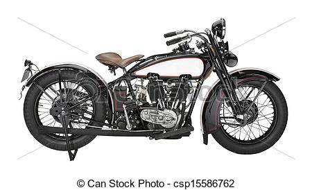 Stock Image of vintage motorcycle.