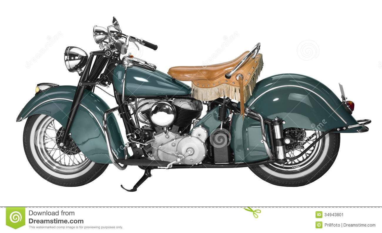 Vintage Motorcycle Stock Image.