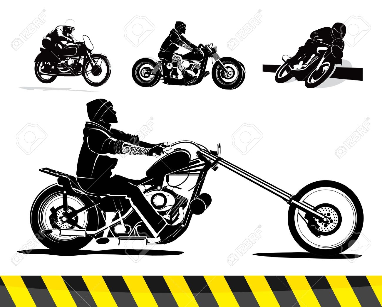 Vintage Motorcycle Vector Background Illustration Royalty Free.