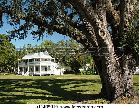 Stock Photograph of Ellenton, FL, Florida, Gamble Plantation.